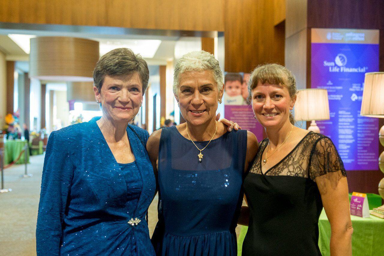 Carola, Luz Maria and Connie Clanson